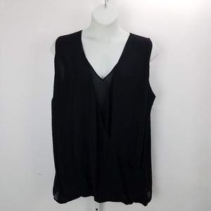 Lauren RL Surplice Sleeveless Blouse Plus Sz 3X Bl